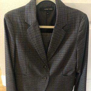 Amanda & Chelsea Brown Blazer Skirt Suit Sz 12 NWT